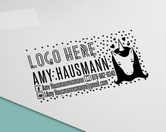 Custom Stamp Unicorn Marketing Branding Consultant, Consultant Stamp, Catalog Stamp,live sale divider hanger lujure thank you business card