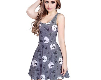 Nightmare Before Christmas Dress - Skater Dress Jack Skellington Dress Cosplay Dress Comicon Dress Plus Size Dress Goth Dress