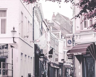 In The Heart Of Maastricht - Dutch decor, urban photography, wall art canvas, large art print, Maastricht print, narrow alley, architecture