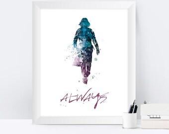 Severus Snape, Always, Alan Rickman, Harry Potter, Always Harry Potter, Harry Potter Gifts, Professor Snape, Harry Potter Print, Wall Art