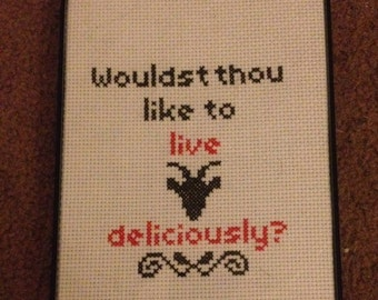 Live Deliciously Finished Crosstitch