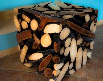 Wood Art Деревянный куб Предмет Интерьера