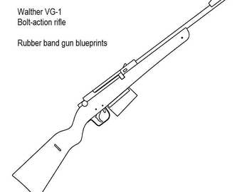 Bolt action rubber band gun plans