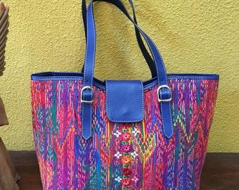 SALE!! 20% off Handbag leather and Mayan huipil