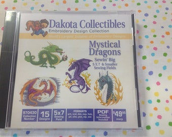Dakota Collectibles Mystical Dragons Embroidery CD