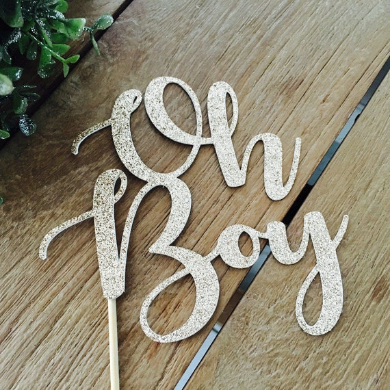 Oh Boy Cake Topper Baby Shower Cake Topper Baby Shower