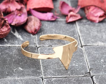 Geometric Bangle | Triangle Bangle | Geometric Bracelet|  Triangle Bracelet | minimalist Design | in Rose Gold, Gold, Silver, Black