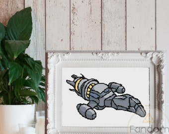 Firefly Serenity Cross Stitch PDF Pattern | Instant Digital Download | Geek Cross Stitch Pattern | Serenity Firefly Cross Stitch Pattern