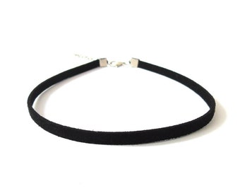 Chokers, Black Velvet Choker Necklace, Simple Choker Necklace, Choker Necklace, Black Choker, 90s Choker, Velvet Choker, Choker Charm, Gift