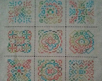 MOTIF MADNESS Counted Cross Stitch Pattern / Chart - 9 motifs - geometric  embroidery design - stitch one, stitch all - variegated floss