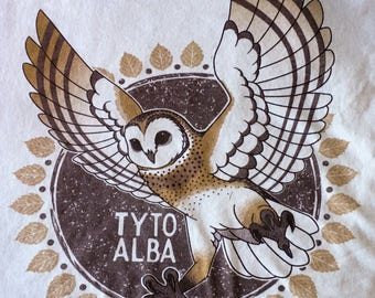 Barn Owl (TYTO ALBA) Graphic T-Shirt (Organic Cotton!)