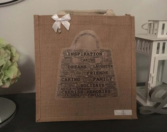 EmsiLou BAG Typography jute (personalised)