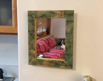Blue Floral Locker Mirror