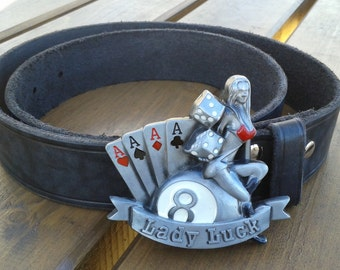 Belt leather LADY LUCK POCKER