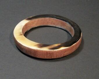 Hand Made Horn on Wood Bracelet