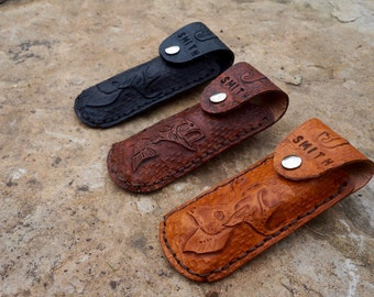 Customizable Leather Knife Case