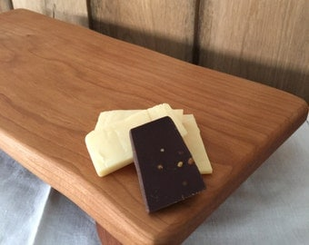 Reclaimed , Footed Serving Board , Charcuterie Cherry Wood