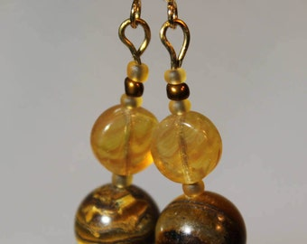 Tigers Eye/ aid of balance/ Everyday Earrings/ dangle earrings