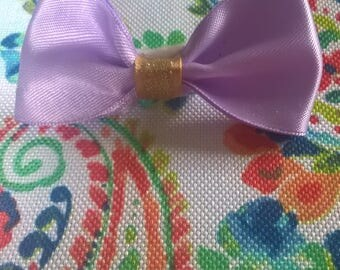 Lavender Bow on Barrette