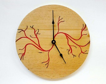 Wood and Resin Vein Wall Clock