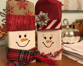 Holiday Wooden Block Decoration