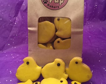 Bag O' Chicks,Grain Free Easter Dog Treats,Peanut Butter Dog Treat