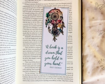 Neil Gaiman Dream Catcher Quote Bookmark