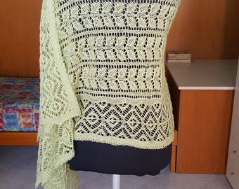 Green Victorian lace stole