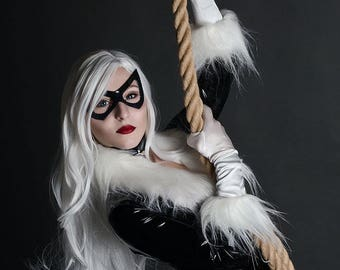 Black Cat for marvel Latex cosplay costume