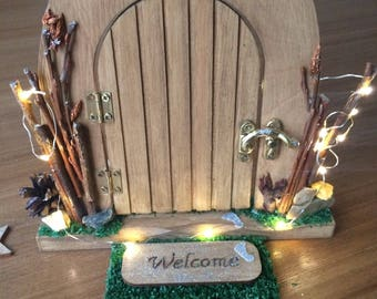 Magical Fairy Doors. Elves or Pixie Doors. Personalised child's gift Perfect for storytelling. Willow branches handmade with love.