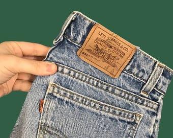 "Vintage Levi's Orange Tab High-Waisted Jean Shorts // 28"" x 21"""