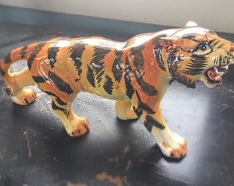 Fierce Vintage Wales Collector Japan Ceramic Tiger