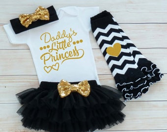 Daddy's Little Princess Outfit, Baby Coming Home Shirt, Coming Home Baby Girl Outfit, Baby Coming Home Outfit, Baby Shower, Infant Outfit