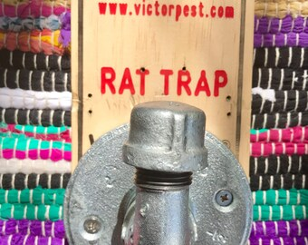 Rat Trap Wall Hook, Stainless steel, industrial, handmade