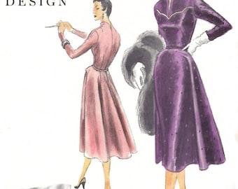 """Vintage 1950's Sewing Pattern Vogue Couturier Design Elegant Sophisticated Dress Bust 34"""""""