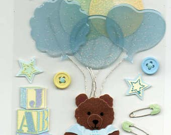 New Baby Boy Jolee's Boutique Scrapbook Stickers Embellishments Cardmaking Crafts