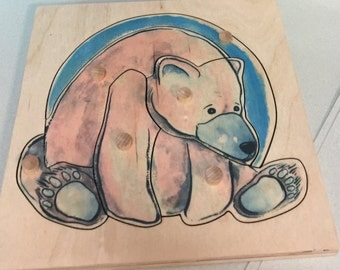 Bear cub puzzle (6 pieces) woodland collection