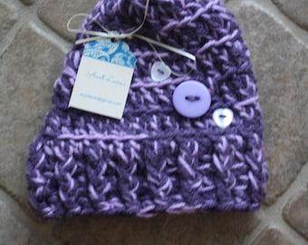 Size 3-6M, Handmade Baby Hat, Crochet Baby Hat, Baby Hat, Baby Girl Hat, Infant Girl Hat, Newborn Baby Girl Hat, Baby Gift, Baby Shower Gift