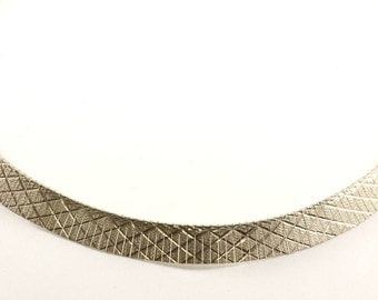 Vintage Italy Herringbone Style Necklace 925 Sterling Silver NC 118-E
