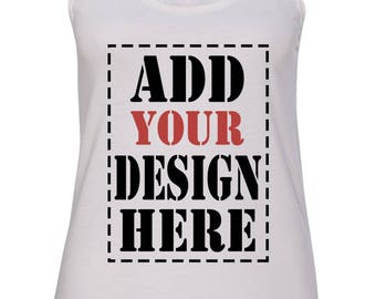 Design Your Own Customized RACERBACK Tank Top - Add your Picture Photo Image Text Print - Personalized High Quality RACERBACK Tank Top