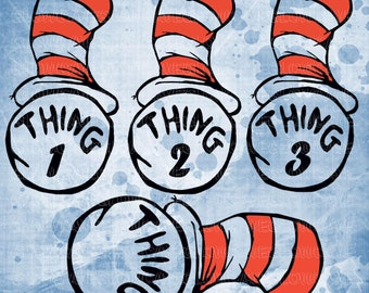 Dr suess Silhouettes svg file, Dr suess Clip art, Dr suess svg, INSTANT DOWNLOAD - svg, png, dxf, eps, jpg