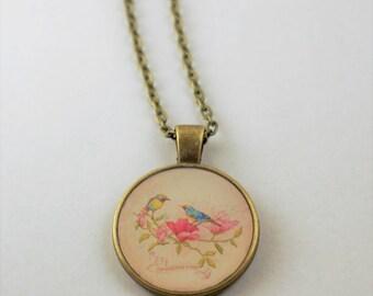 Bird Resin Pendant Necklace