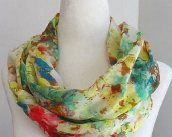 Yellow infinity scarf, infinity scarf, womens infinity scarf, womens fashion, Handmade scarf, scarves