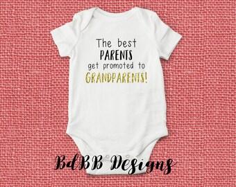 Grandparent Reveal Pregnancy Announcement Onesie / Pregnancy Reveal Onesie / Congrats Grandparents / Were Pregnant Onesie / Parent Promotion