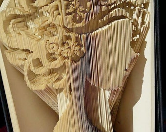 Floral Coiffure Book Folding Pattern