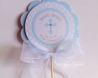 First communion centerpiece, baptism decoration, baptism centerpiece, christening centerpiece, communion decoration (set of 2)