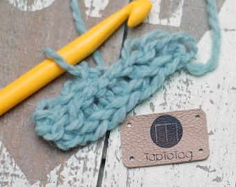 Personalisierte Leder-Etiketten-Set von 10 / / Branding Tags für handgemachte / / Branding Borte / / Leder Label / / Leder-Patches, Handwerk tags