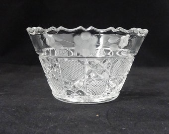 Candy Dish, Pressed Glass, Small Bowl