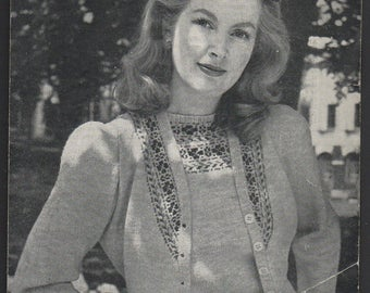Bestway Fair Isle Set Knitting Pattern 1787, Original 1940s