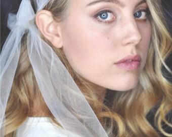 rhinestone veil / lace veil / lace veil / rhinestone veil / cover appliquéd / veil with application / vintage veil / 20ies veil